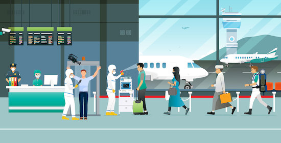 Coronavirus, aeropuerto, deteccion de fiebre