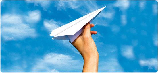 uav papel avion