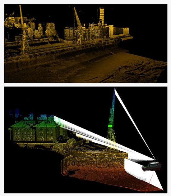 Láser escáner para levantamientos hidrográficos